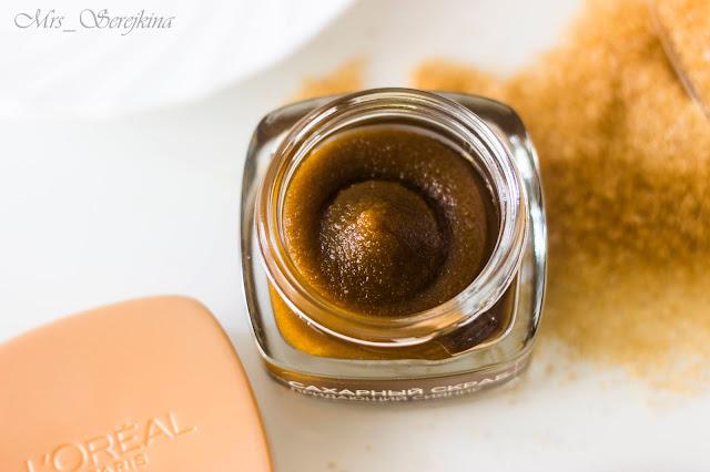 Сахарный скраб для лица, придающий сияние L'Oreal Paris