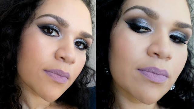 Maquiagem Cinza com Sombras 3D