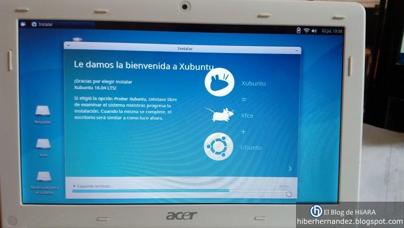 Instalación en proceso de Xubuntu 16.04 - El Blog de HiiARA