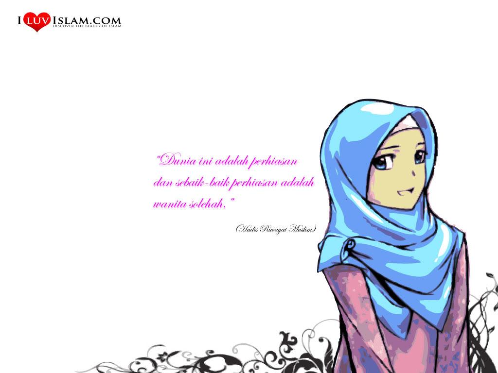 Kartun Muslimah Hari Raya Gambar Kartun