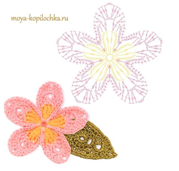 Crochet Simple Flower Diagram : ergahandmade: 100 Crochet Flowers + Diagrams ( Part 1 )