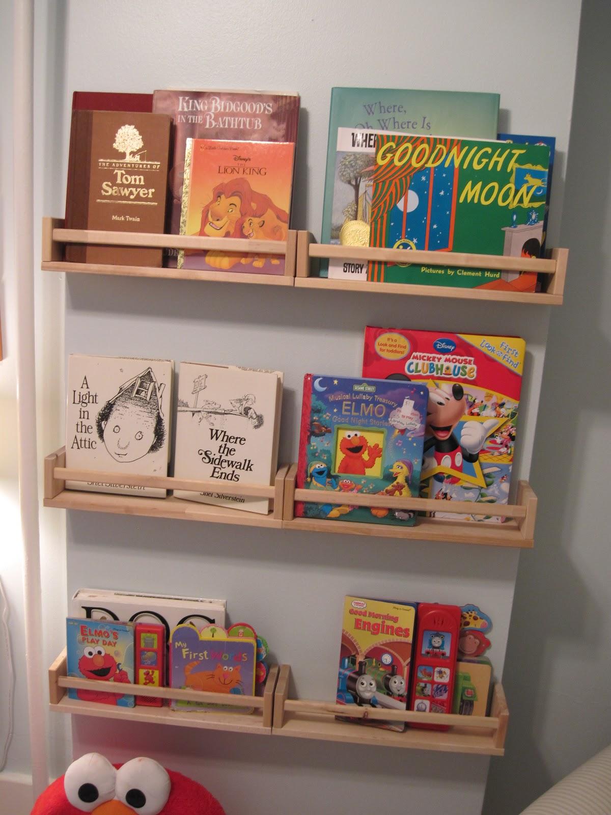 our abode ikea spice racks as bookshelves