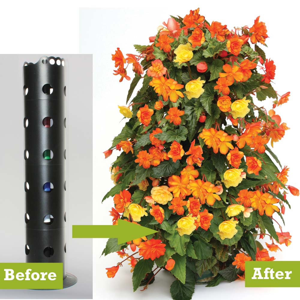 Diy Flower Tower Planter: How To Build A Flower Tower Planter