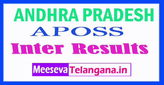 APOSS Andhra Pradesh Open School Inter Results 2018