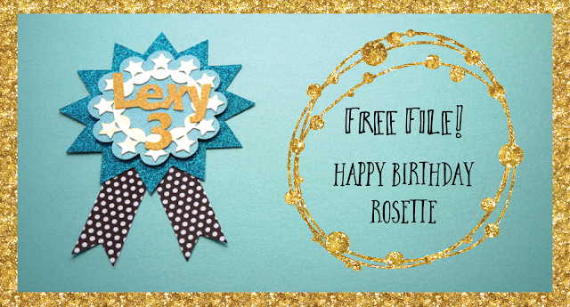 Free rosette file from Hilary Milne for Silhouette CAMEO
