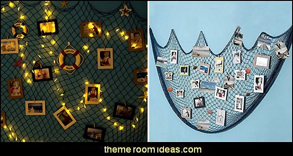 Nautical Fish Nets   nautical bedroom ideas - decorating nautical style bedrooms - nautical decor - sailing ship theme - coastal seaside beach theme - boat beds - beach house decorating -  Travelers and seafarers - nautical bedding - nautical bedroom furniture