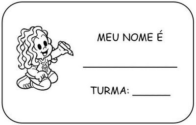 Bau Da Web Etiquetas Identificacao Imprimir Colorir Turma Da Monica