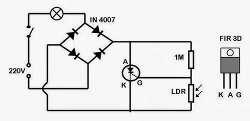 wiring diagram lampu taman