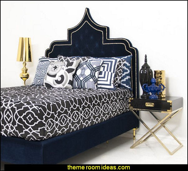 Casbah Panel Bed   Moroccan decorating ideas - Moroccan decor - Moroccan furniture - decorating Moroccan style - Moroccan themed bedroom decorating ideas - Exotic theme decorating - Sultans Palace - harem style bedrooms Arabian nights Moroccan bedroom furniture - moroccan wall decoration ideas