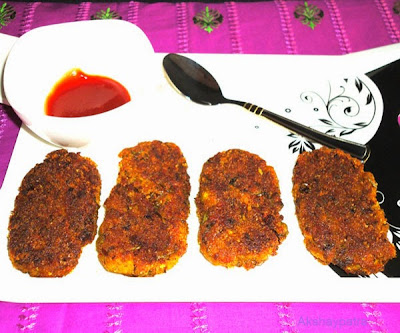 vegetable cutlet ready to serve