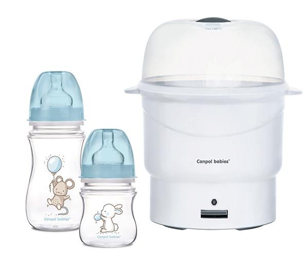 Butelki i sterylizator parowy Canpol Babies