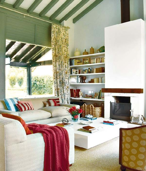 Living Room In Spanish Wood Look Tile Floors Modern Furniture 2013 Decorating Ideas