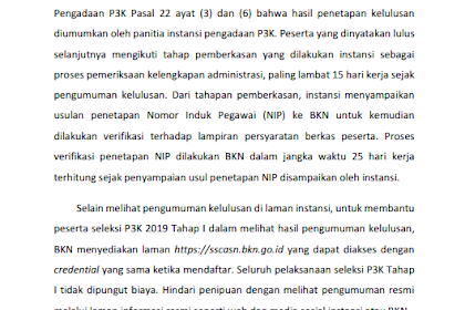 Pengumuman Hasil Tes PPPK Sudah Muncul, Lihat Daftarnya Disini
