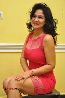 Telugu Actress Vijaya Murthy Stills in Red Short Dress at Www.Meena Bazaar Movie Opening  0077.JPG