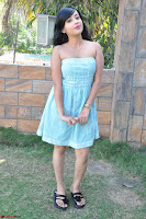 Sahana New cute Telugu Actress in Sky Blue Small Sleeveless Dress ~  Exclusive Galleries 043.jpg