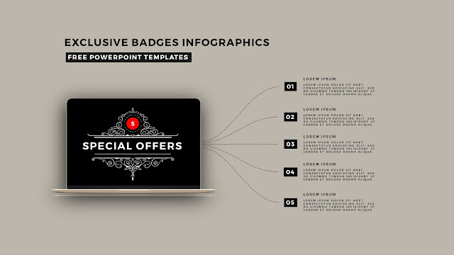 Infographic Badges Free PowerPoint Template for Special Offers Slide 5