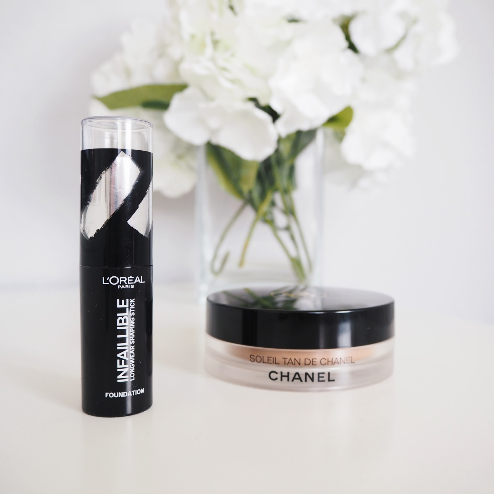 Chanel Soleil Tan De Chanel and L'Oreal Shaping Stick Foundation