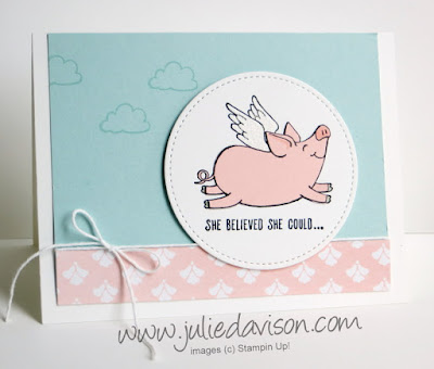 Stampin' Up! This Little Piggy Card ~ 2017-2018 Annual Catalog ~ www.juliedavison.com