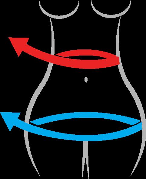 Nutrición: Medir cintura cadera