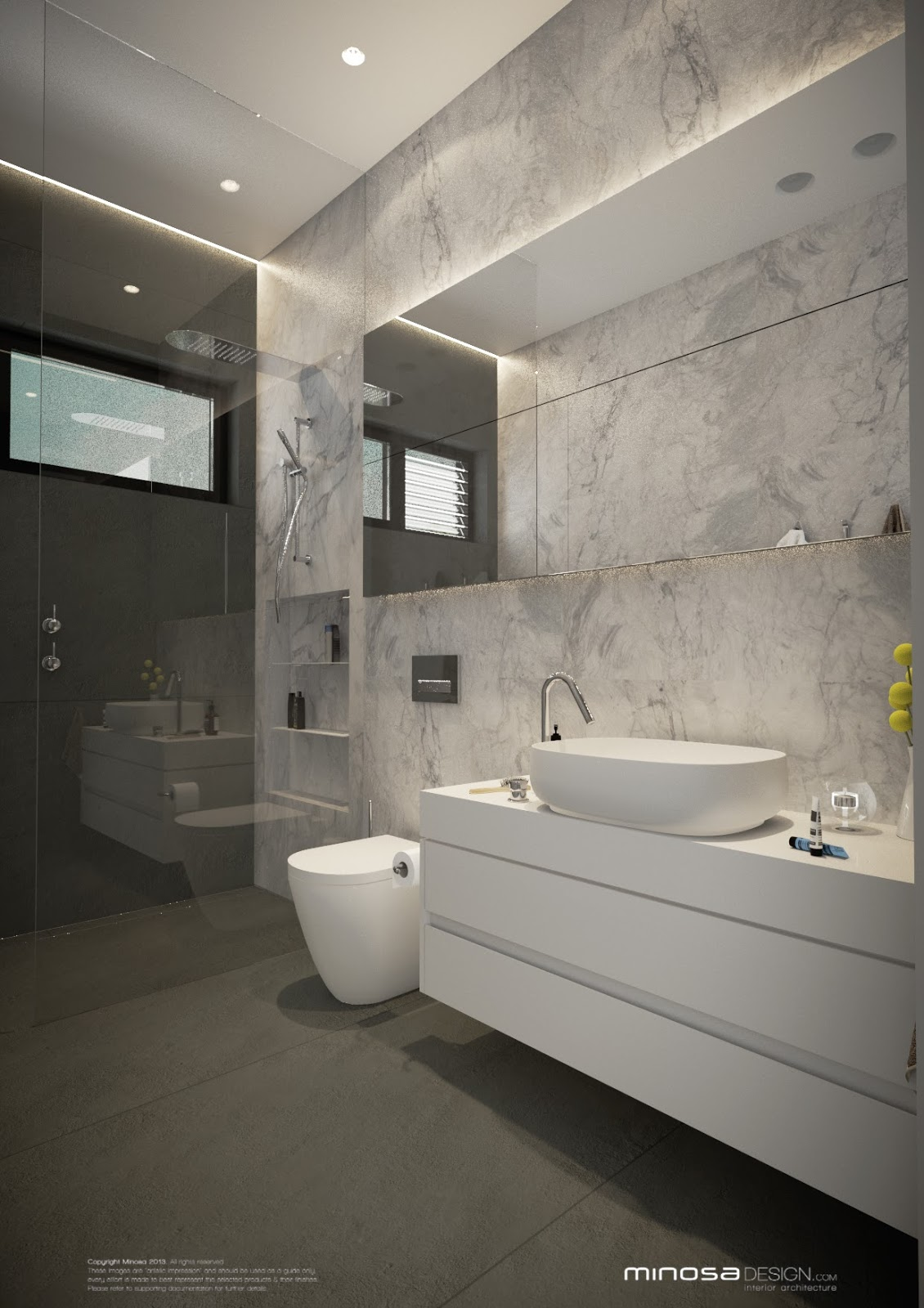 Minosa: Modern Monochrome Bathroom Design on Monochromatic Bathroom Ideas  id=23406