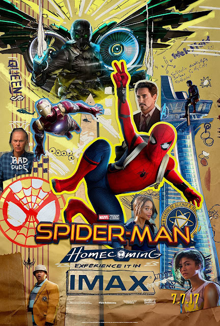 Spider-Man Homecoming High School Yearbook Themed Theatrical One Sheet Marvel Movie Poster