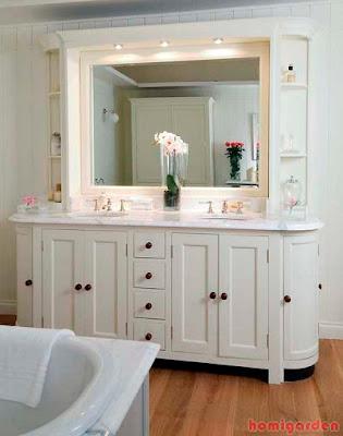 Contemporary bathroom vanity cabinets