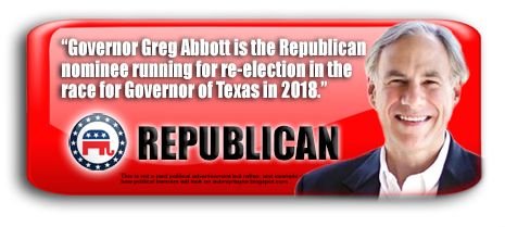 GOVERNOR GREG ABBOTT IS THE REPUBLICAN NOMINEE IN THE RACE FOR GOVERNOR OF TEXAS IN 2018