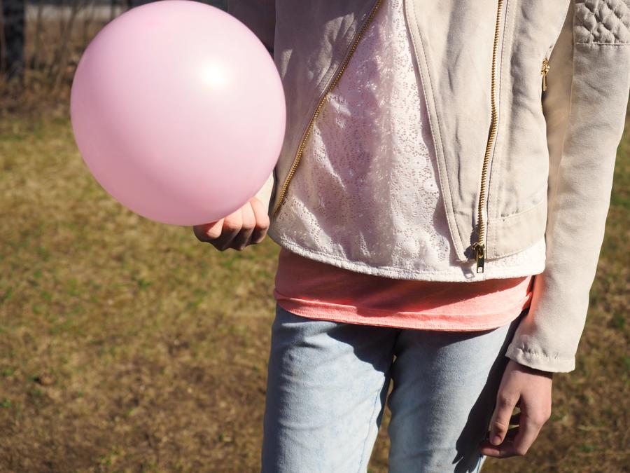 roosa ilmapallo