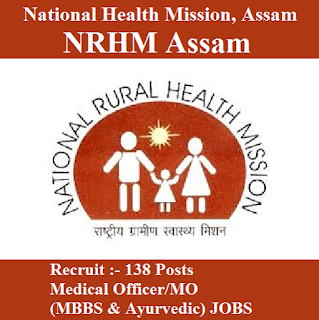National Health Mission, Assam, NRHM Assam, NHM, MO, Medical Officer, Graduation, freejobalert, Sarkari Naukri, Latest Jobs, nrhm logo