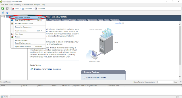 Cara Install Sistem Operasi (Linux/Windows) di Virtual Machine dengan VMWare vSphere Client