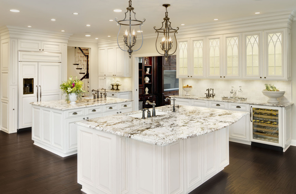 White Galaxy Granite Kitchen Countertops
