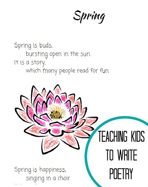 how to help kids write their own poems