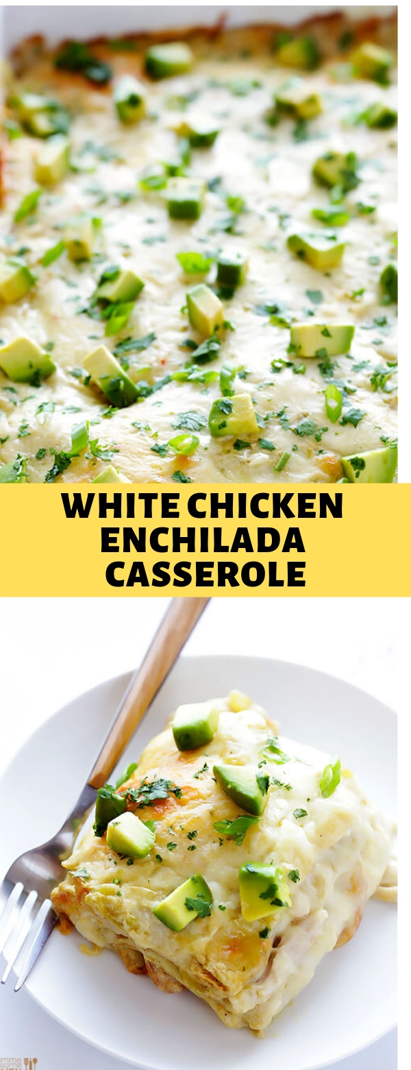 WHITE CHICKEN ENCHILADA CASSEROLE #casserole #chicken #enchilada