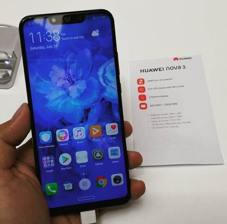 Huawei Nova 3 Unveiled in PH for Php25,990; Better Than P20 without Leica-Branding