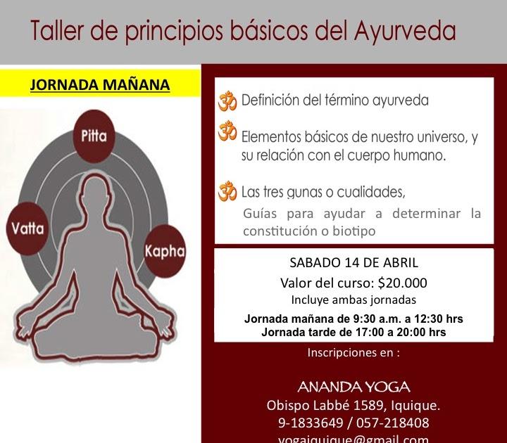 TALLER DE PRINCIPIOS BASICOS DEL AYURVEDA  a1a7aeae52b0