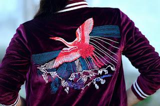 Jacky Luxury Embroidered velvet Bomber