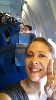 Dans l'avion, départ pour la Rep. Dominicaine