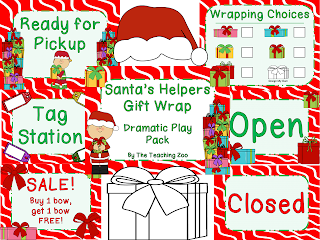 http://www.teacherspayteachers.com/Product/Santas-Helper-Gift-Wrap-Store-Dramatic-Play-Pack-994711