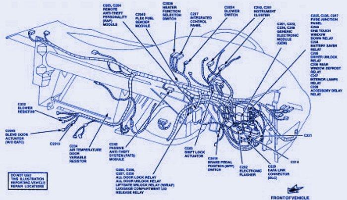 Fuse Panel Diagram Of 1997 Ford Taurus   Fuse Box Diagram
