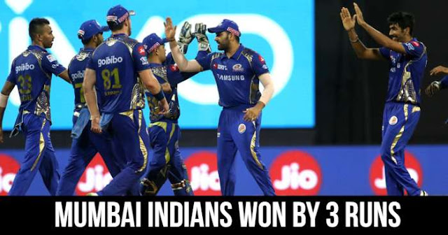 Mumbai Indians won by 3 runs