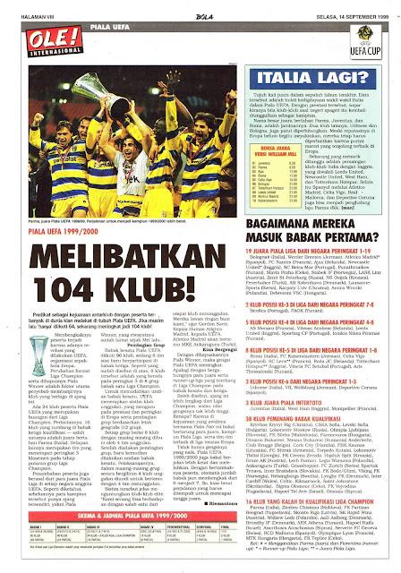 PIALA UEFA 1999/2000 MELIBATKAN 104 KLUB