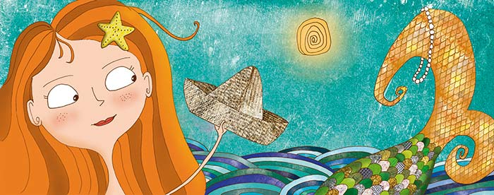 Ilustración, Sirena de Andy Leimontas