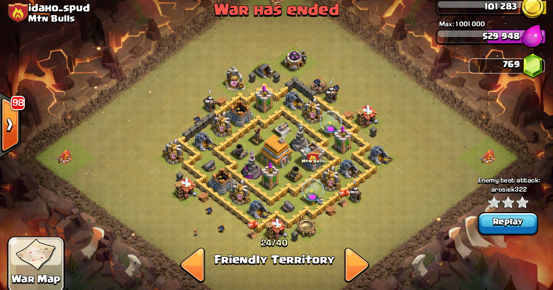 Clash of Clans Tactics: Level 6 Town Hall War Base