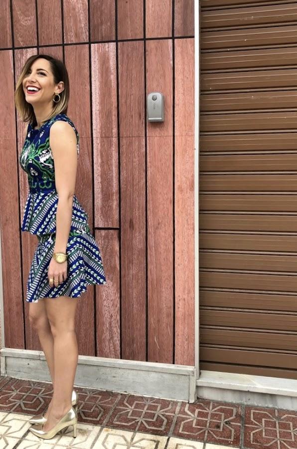 Fitness And Chicness-Vestido estamapado azul y verde-Vestido y Tacon-9