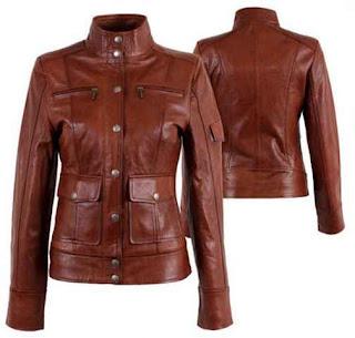Desain jaket kulit untuk wanita militer