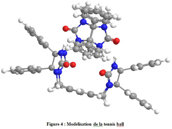 "Modélisation 3D du complexe supramoléculaire ""tennis ball"""