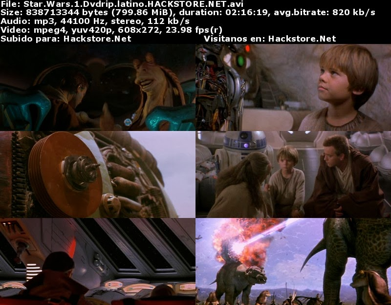 Captura Star Wars 1 (1999) Dvdrip Latino