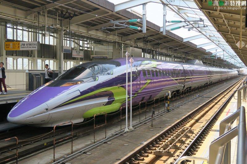 [日本] 新大阪●山陽新幹線【500 TYPE EVA】警戒!EVA 初號機變身新幹線奔走於西日本啦