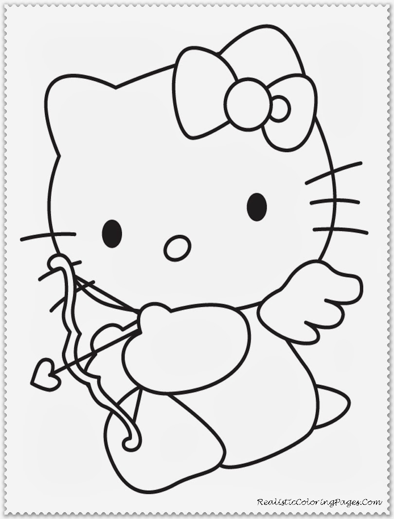 Valentine Cupid Coloring Pages For Kids Printable