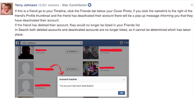 what happens when you deactivate your Facebook account?